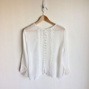 River Island Tops - River Island Embroidered White Top. Size 14. A2